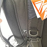 Городской надежный эрго рюкзак 25 л Onepolar W1674 серо-синий , фото 7