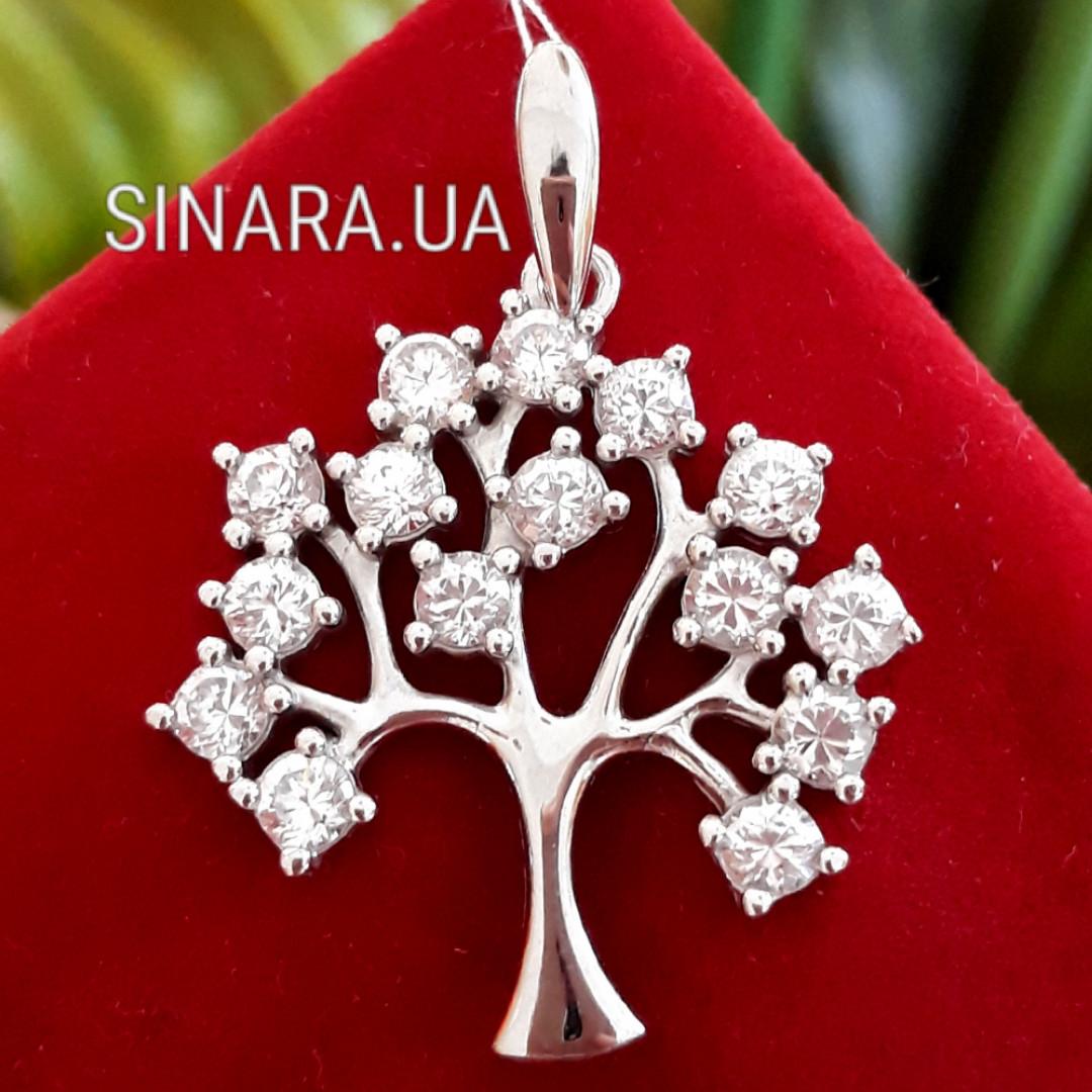Серебряная подвеска кулон Дерево Жизни - Кулон Древо Жизни серебро 925