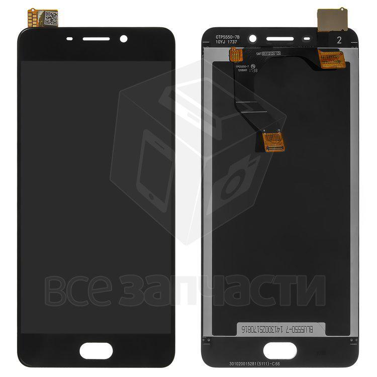 Дисплейный модуль для телефона Meizu M6 Note, черный Original (PRC)