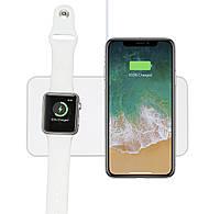 Беспроводная зарядка Qitech Mini AirPower для Apple iPhone и Apple Watch