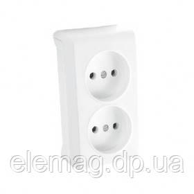 8caf5a4cbe4f VIKO VERA Розетка двойная белый - интернет-магазин Elemag электроника  График работы  с 08