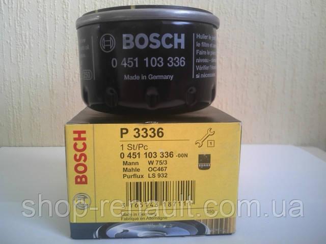 Фильтр масляный Bosch 0 451 103 336 7701473327 6001543357 7700734945 7700274177