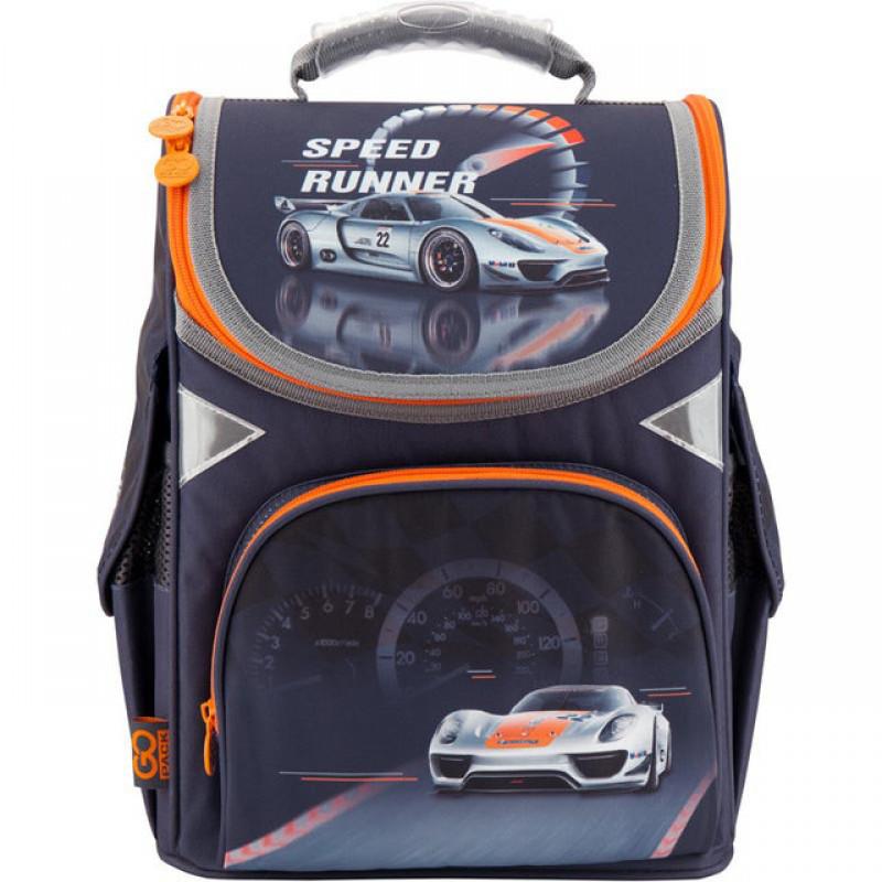 ed8f396e0dcf Ранец (рюкзак) - каркасный школьный для мальчика - Машина, GO18-5001S-