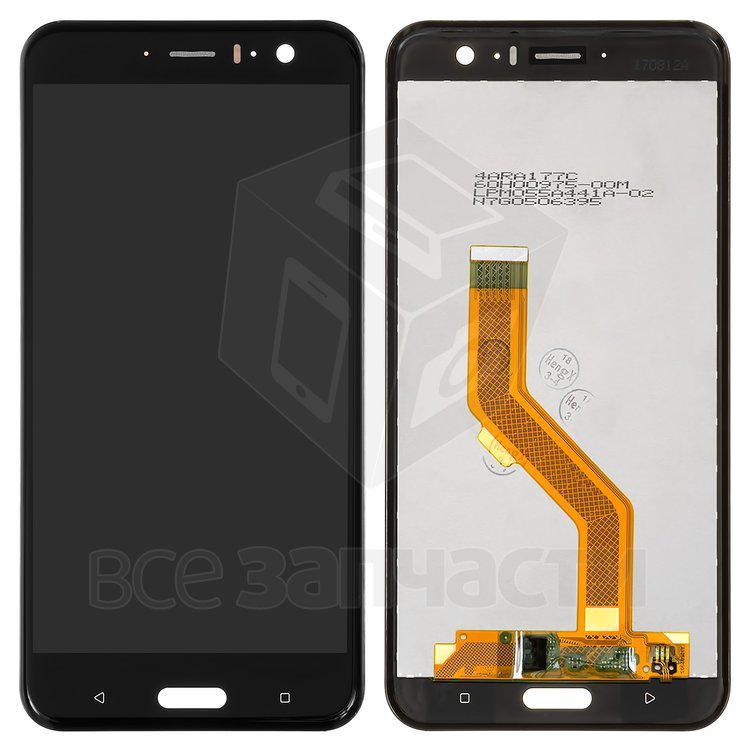Дисплейный модуль для мобильного телефона HTC U11, черный