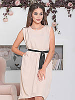 Бежевое платье Дайона, фото 1