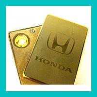Электроимпульсная USB зажигалка HONDA!Хит цена