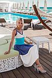 Женское трехцветное платье мелкой вязки (2 цвета), фото 5