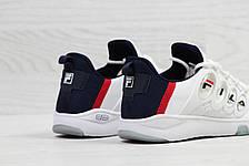 Модные мужские кроссовки Fila,белые с темно синим, фото 3
