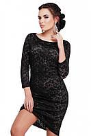 Нарядное гипюровое платье черного цвета