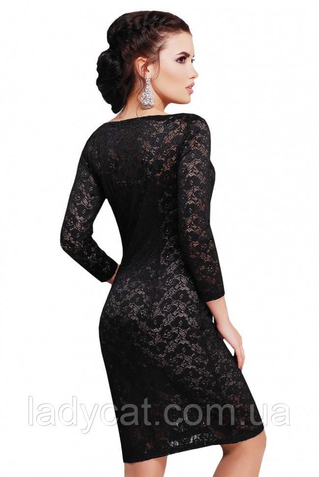 229e404e097 Нарядное гипюровое платье черного цвета  продажа
