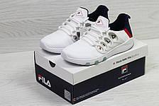 Модные мужские кроссовки Fila,белые с темно синим, фото 2