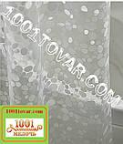 Силиконовая шторка для ванной комнаты с 3D эффектом, размер 180х180 см., бело-прозрачная, фото 2