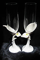 """Свадебные бокалы """"Богемия"""" с лепкой, фото 1"""