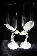 """Свадебные бокалы """"Богемия"""" с лепкой"""