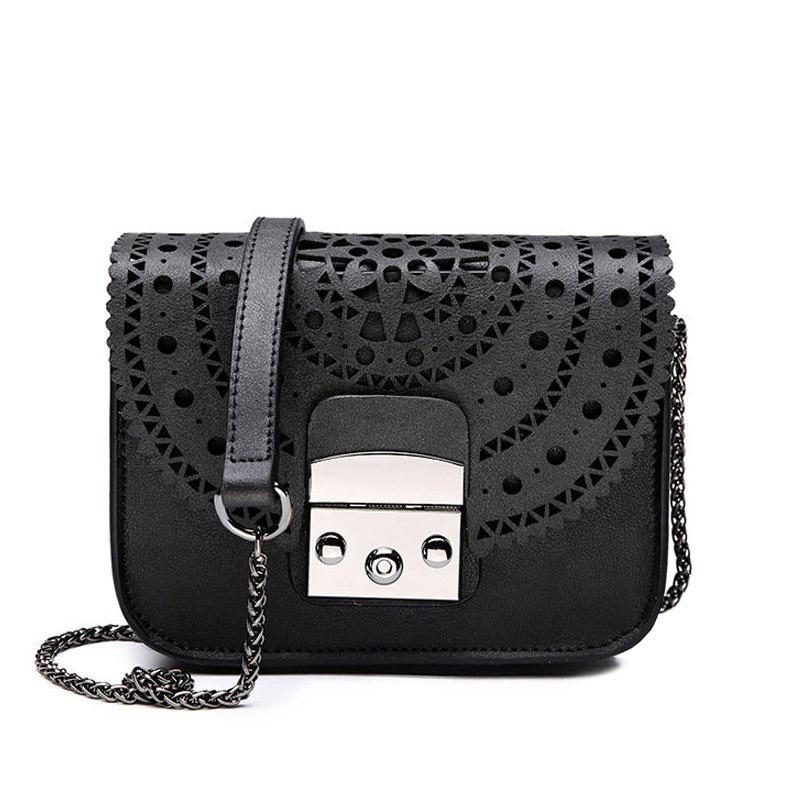 bab169b400f5 Сумка женская в стиле Furla с перфорацией (черная) - Интернет-магазин «VINGO