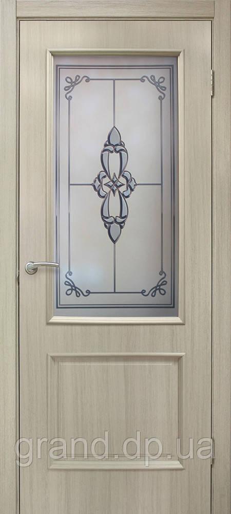 Двери межкомнатные Омис Даниэлла ПГ ПВХ глухая, цвет дуб беленый
