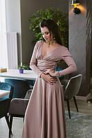 Платье макси с вырезом Цвета 365 В Н