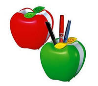 """Подставка для ручек пластик  """"Яблоко"""" 8,5*9*6см"""