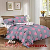 Семейный набор хлопкового постельного белья из Сатина №384AB KRISPOL™