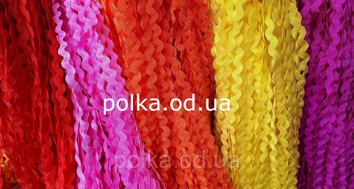 Цветная тесьма вьюнок, ширина 0.5см (1 уп-23м)