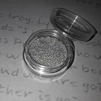 Бульонки металлические, серебро в баночке