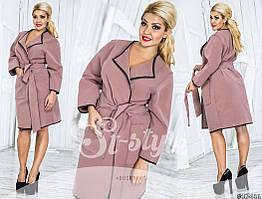 Кашемировое пальто без подкладки до 58 размера Батал Цвета 571 БВ