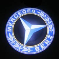 Диодная подсветка дверей с логотипом авто  Mercedes, фото 1