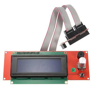 Модуль экрана 2004 с картридером SD карт и кабелем подключения