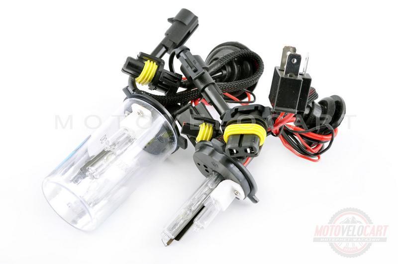 Лампи ксенонові (пара) H4 (12V 50W DC AMP) 4300K (+ галоген)