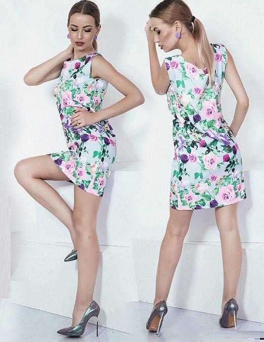 Платье Цветы 3784