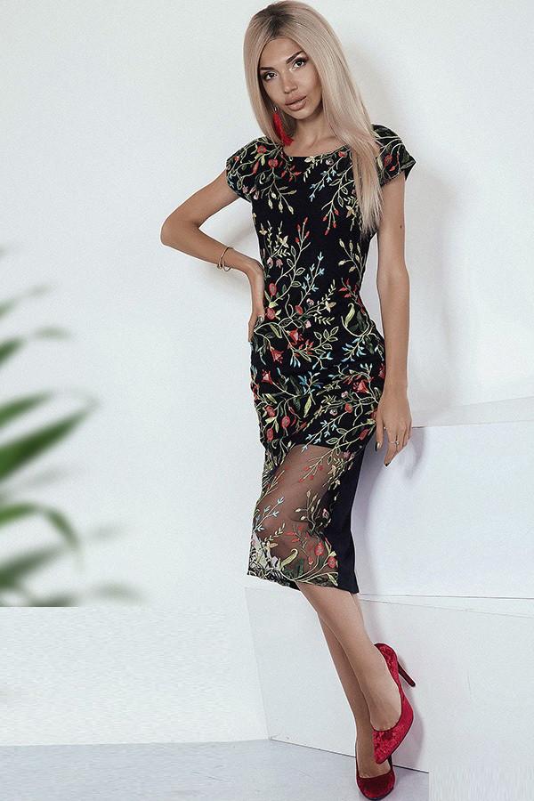 Стильное дизайнерское платье 3791
