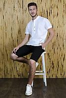 Шорты мужские Черные лен, фото 1