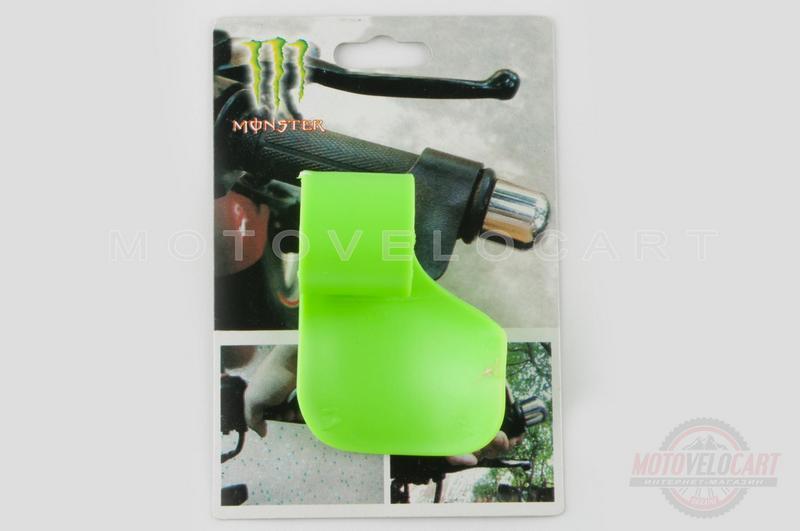 """Рычаг круиз контроля ручки газа   """"MONSTER ENERGY""""   (универсальный, зеленый)   """"XJB"""""""