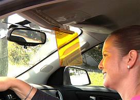 Антибликовый козырек для автомобиля HD Vision Visor Clear View от солнца фонарей Клир Вью День Ночь