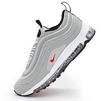 Мужские и женские кроссовки Nike air max 97 серебристые Vietnam р.(36, 37)