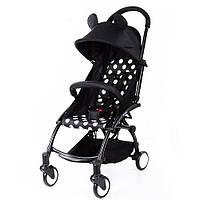 Прогулочная коляска Bambi Yoga M 3548-2-2 Черный горох