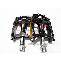 Педали велосипедные алюминиевые на промподшипнике, mod:138 (#MD) TAIWAN цвет:черный (пара)
