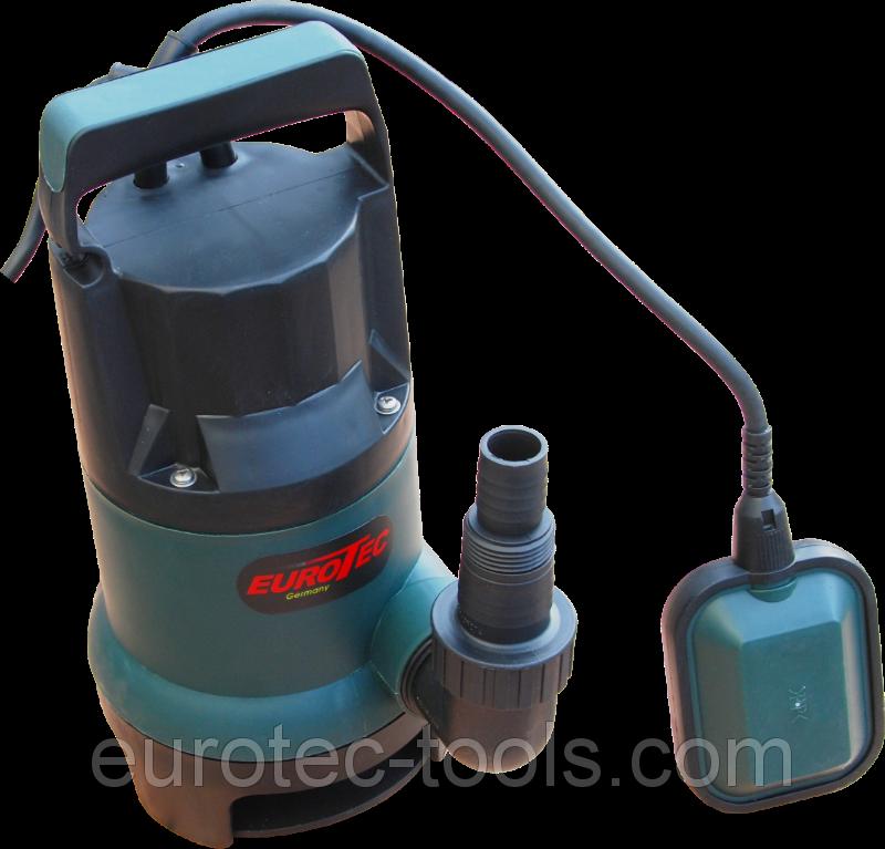 Насос погружной дренажный для чистой воды с поплавком пластиковый Eurotec PU 202 Auto
