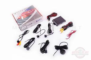 """Парктроник   mod:PA104   (датчики черные 4шт, CMOS камера , видеовыход, монтажный комплект)   """"THOR"""""""