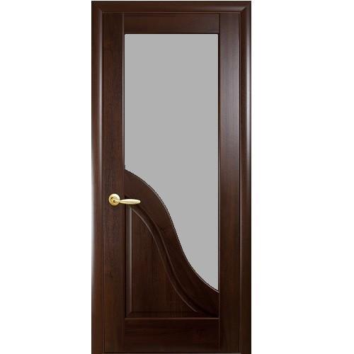 Дверь Амата стекло (Каштан)