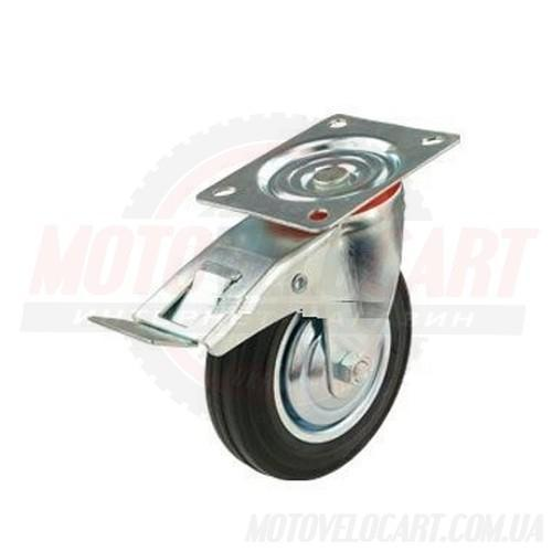 Колесо c поворотным кронштейном и тормозом 530200