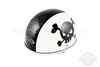 "Шлем-каска   (mod:Skull) (size:L, бело-черный)   ""TVD"""