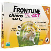 FrontLine Tri-Act Новый препарат против комаров, клещей и блох для собак от 5 до 10 кг S 1 пипетка