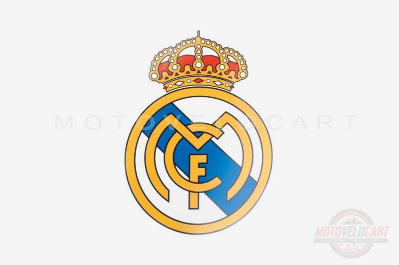 Наклейка   логотип   REAL MADRID   (16x13см)   (#5650)