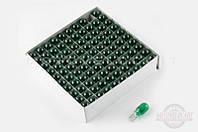 """Лампа Т15 (безцокольная)   12V 10W   (поворот, зеленая)   """"FL"""""""