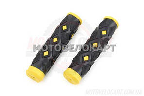 """Ручки керма велосипедні (жовта) (mod:2) """"YKX"""""""