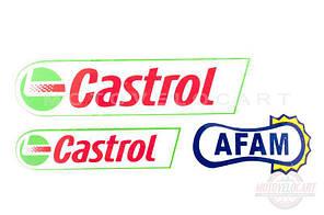 """Наклейки (набор) """"CASTROL"""" (#14)"""