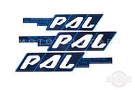 """Наклейки (набор) """"PAL"""" (45х23см, синие) (#0101)"""