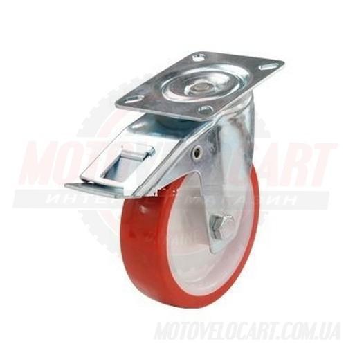 Колесо с поворотным кронштейном и тормозом 330100