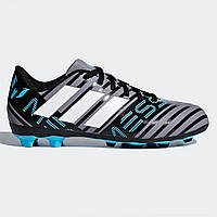 Бутсы Adidas Nemeziz Messi 17.4 Childrens FG Football Boots Grey White Blk  - Оригинал 347d4a7f02c91